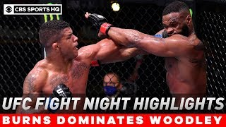 UFC Fight Night Highlights: Gilbert Burns dominates Woodley in one-sided beatdown | CBS Sports HQ
