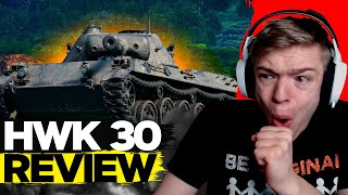 I fall in love with HWK 30 in World of Tanks