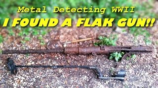 Metal Detecting WW2 - FLAK GUN FOUND!!! 20mm German Flak 30 / 38 Flugabwehrkanone - History Secrets