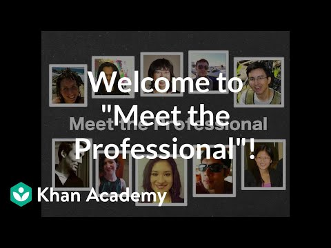 A thumbnail for: Meet the Professional