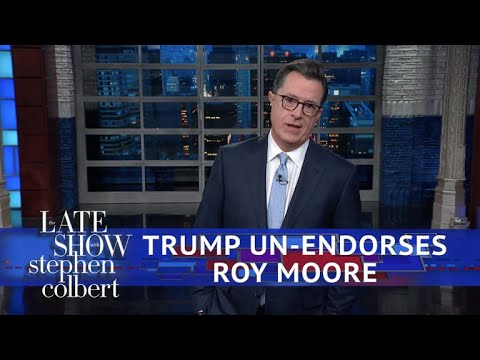 Trump Walks Back His Roy Moore Endorsement
