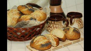 Смотреть онлайн Необычные золотистые булочки на завтрак