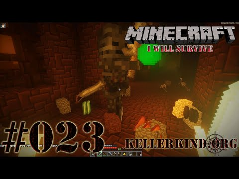 Minecraft: I will survive #023 - Netherfestung ★ Let's Play Minecraft [HD|60FPS]