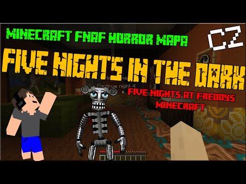 [CZ] FIVE NIGHTS IN THE DARK Minecraft horror 1.13.2 | FIVE NIGHTS AT FREDDY'S MINECRAFT