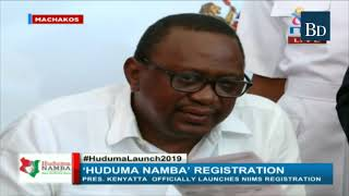 President Uhuru Kenyatta launches the NIIMS registration