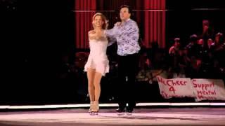 "Kim Navarro and Russ Courtnall skate to ""Dancing Fool"""