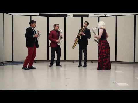 W.F. Mozart's Oboe Quartet in F played by Zelos Saxophone Quartet