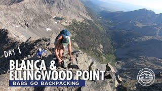 Blanca and Ellingwood Point // Backpacking at Lake Como