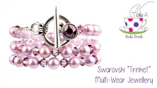 "Swarovski ""Trinket"" Duo-Wear Bracelet & Necklace"