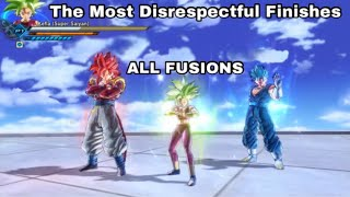All Saiyan Fusions! More Disrespectful Finishes In Dragon Ball Xenoverse 2 - Fusion Themed!
