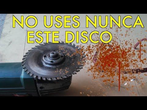 Campaña: No usen disco corte madera en amoladora.