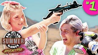 PUNISHMENT ZOMBIE SHOOTOUT   Smosh Summer Games: Apocalypse Ep. 1