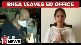 Sushants Case: Rhea Chakraborty Leaves ED Office After 8.5 Hours Of Questioning