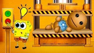 АНТИСТРЕСС ПРОТИВ ПРЕССА и СПАНЧ БОБ ! Эксперимент с Кидом и игрушкой Kick the Buddy #43 #крутилкины