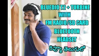 Bluedio T2 Turbine Bluetooth Headset Review ll in telugu ll