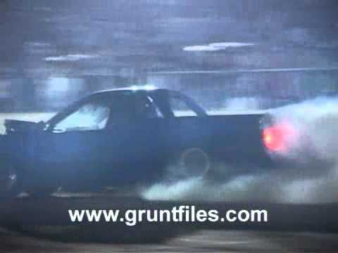 commodore burnout flipping car