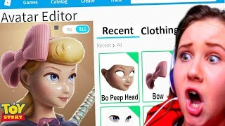 MAKING BO PEEP FROM TOY STORY 4 A ROBLOX ACCOUNT!!!!