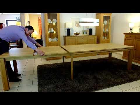 Vinkelau Massivholzmöbel / Esstisch Malte ausziehbar mit Fußauszug / Darstellung der Vergrößerung