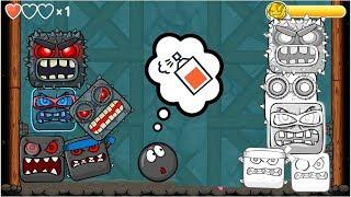 All Boss Battles Red Ball 4: BLACK BALL & ALL WHITE BOSS gameplay