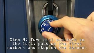 How to Open a Combination Lock or Locker