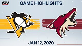 NHL Highlights | Penguins vs. Coyotes – Jan. 12, 2020