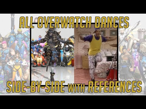 ALL OVERWATCH DANCES & REFERENCES   SIDE-BY-SIDE