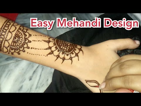 Very Simple Mehandi For bigginers || Mehandi Art