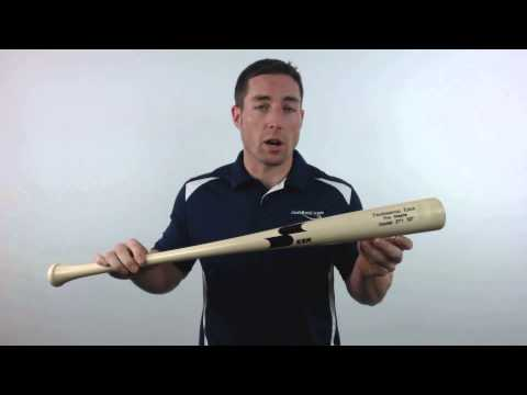SSK Professional Edge Pro Maple Wood Baseball Bat: 271 Model Natural
