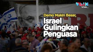 Muak Dengan Netanyahu, Anak Muda Israel Demo Besar-besaran