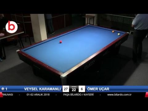 VEYSEL KARAMANLI & ÖMER UÇAR Bilardo Maçı - KAYSERİ MASTERLAR  3 BANT TURNUVASI-1.TUR