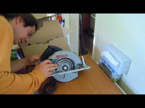 Bosch GKS 65 Circular Saw Professional Unboxing and testing