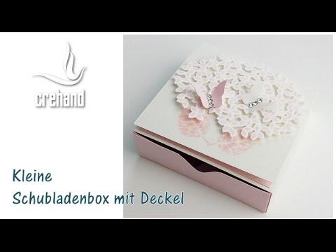 Kleine Schubladenbox mit Deckel mit crehand und Stampin' Up!