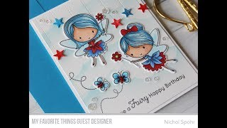MFT Fairy Happy | Patriotic Fairies Birthday Card