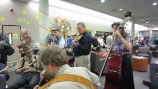 Spokane Folk Festival jamming, November 9, 2013