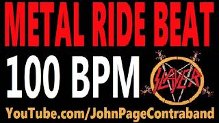 Metal Ride Beat 100 bpm Slayer Style Drums Only Track Loop