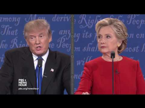 Clinton and Trump debate Russian hacking concerns