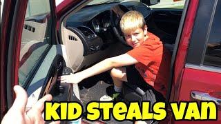 Kid Temper Tantrum STEALS Van And Drives To Gamestop - Daddy Had To Walk! [ Original ]