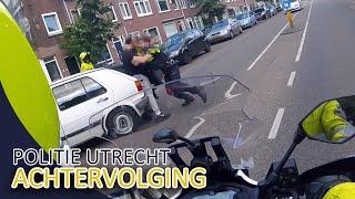 Achtervolging door politie Utrecht in de stad - Politievlogger Jan-Willem