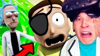 РИК И ЗЛОЙ МОРТИ В ГИГАНТСКОЙ ОПАСНОСТИ!! (Rick and Morty: Virtual Rick-ality)