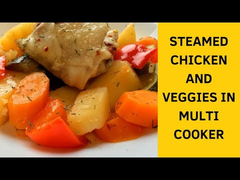 Simple and delicious autumnal veggies and steamed chicken. Weight loss menu