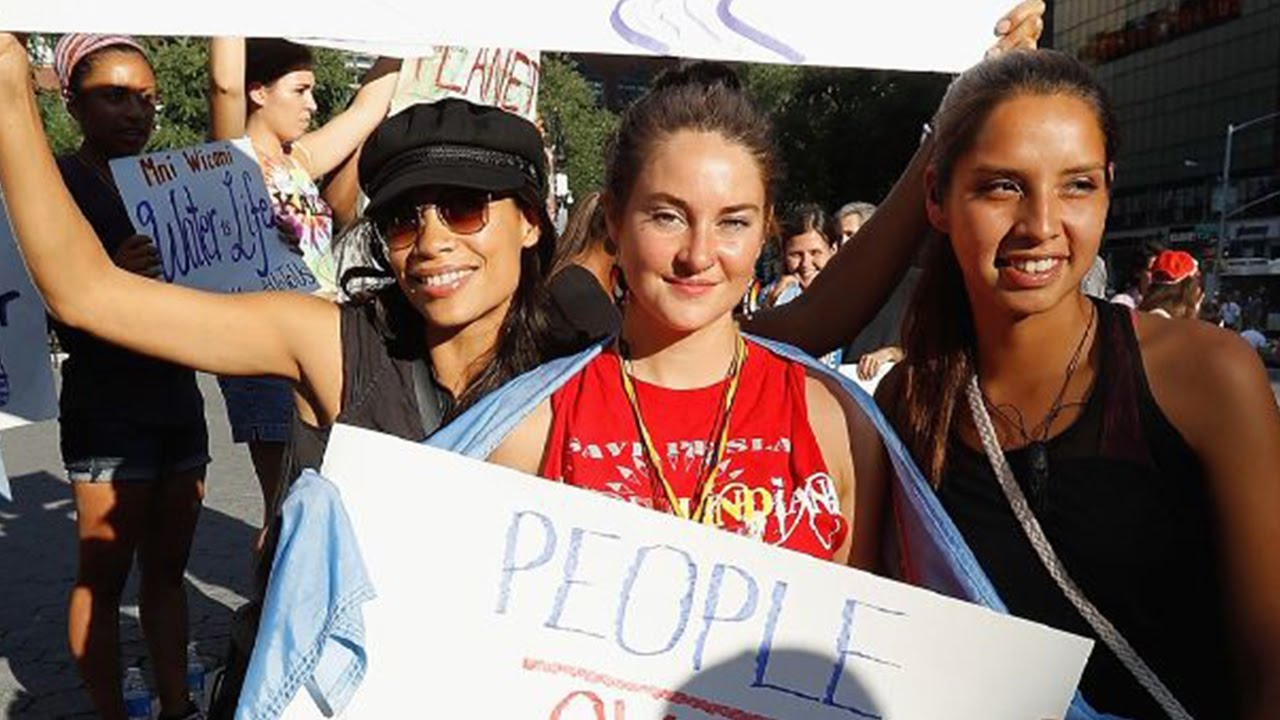 Shailene Woodley Says Protest Isn't About Her thumbnail