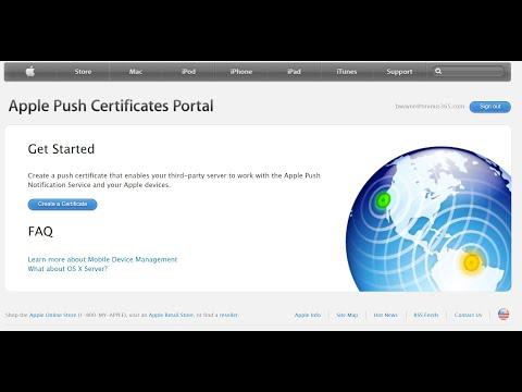Set up MDM Push Certificate in Microsoft Intune - YouTube