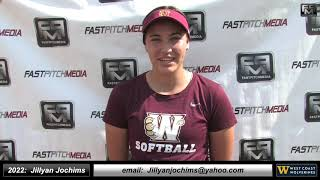 2022 Jillyan Jochims Athletic Pitcher and First Base Softball Skills Video - Wolverines