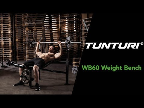 Promovideo: Posilovací lavice TUNTURI WB60 Olympic Width Weight Bench