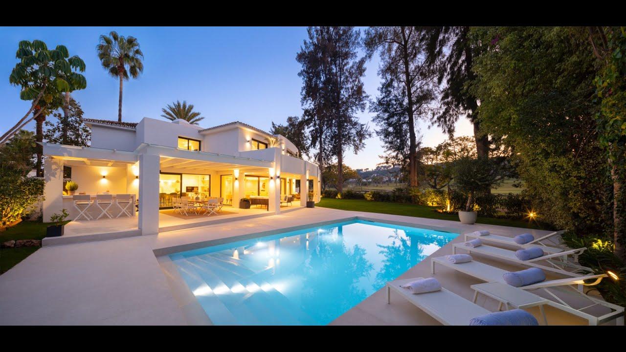 Stunning reformed front-line golf villa for sale in Las Brisas, Nueva Andalucia