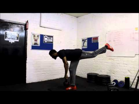 Alternating Single-Leg Kettlebell Deadlift