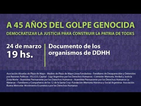 Imagen de Documento de los organismos de DDHH - 45 años del golpe genocida