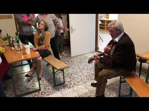 Anschließendes Singen und Spielen des Zirmzapfen-Duo's vom Männergesangsverein Gurgl