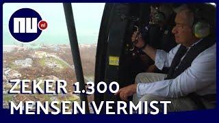 VN-chef bekijkt orkaanschade vanuit Nederlandse helikopter | NU.nl