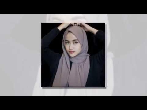 Video TUTORIAL cara memakai HIJAB dan JILBAB segi empat